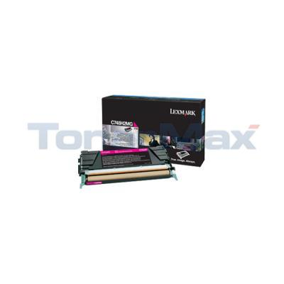 LEXMARK C748 TONER CARTRIDGE MAGENTA HY